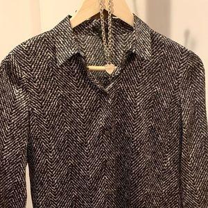Ann Taylor black silk blend Long Sleeve blouse 6P